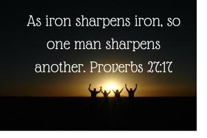 As iron sharpens iron, so one man (1)