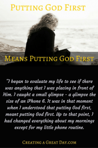 Putting God First pinterst