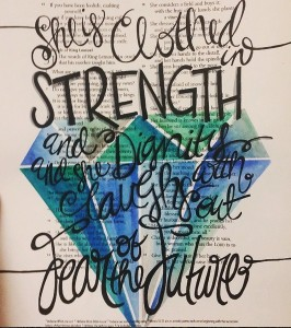 She is Clothed in Strength - TheLetteredLight