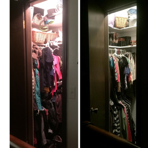 My closet no longer attacks me when I enter it!