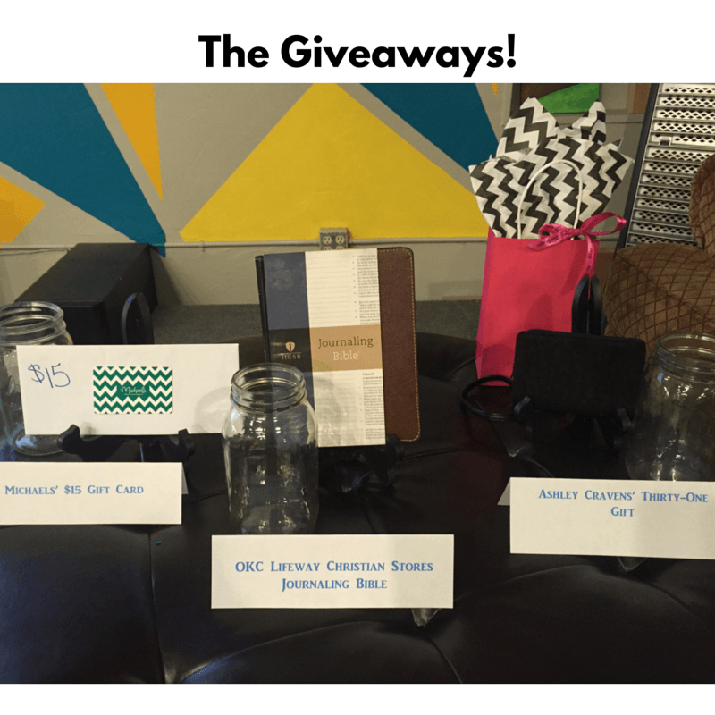 We Had Some Great Giveaways Thanks To Very Generous Donors