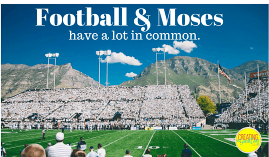 Football & Moses have a lot in Common