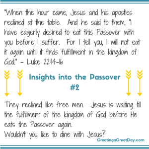 Insights into the Passover #2