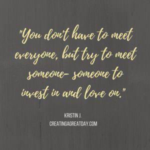 meet someone