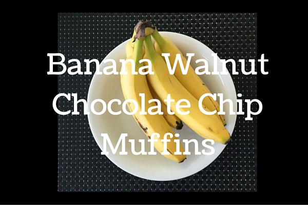 Banana Walnut Chocolate Chip Muffins
