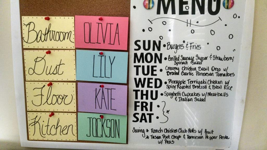 tia's menu board
