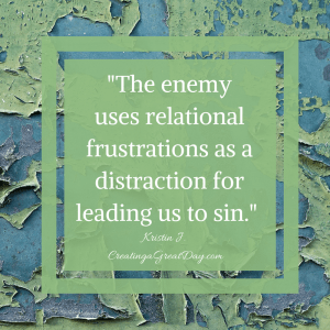enemy leads us to sin