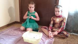 Princess Ballerina and Iron Man are feeling a little unsure about sticking a foot in this icy cold water...