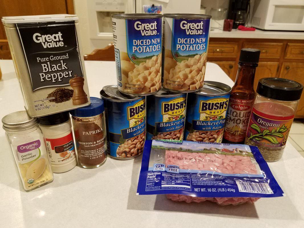 Black-Eyed Pea Soup ingredients