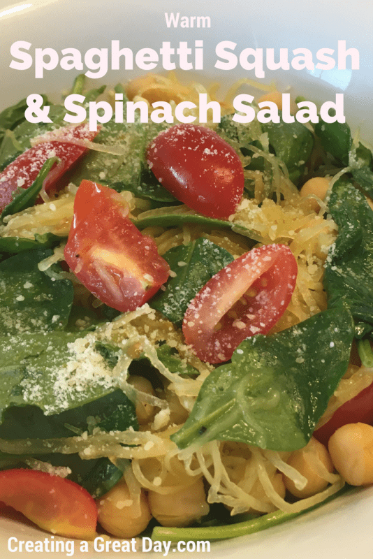 warm-spaghetti-squash-spinach-salad-pinterest