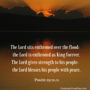 Psalm 29:10,11