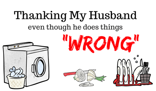 Thanking your husband